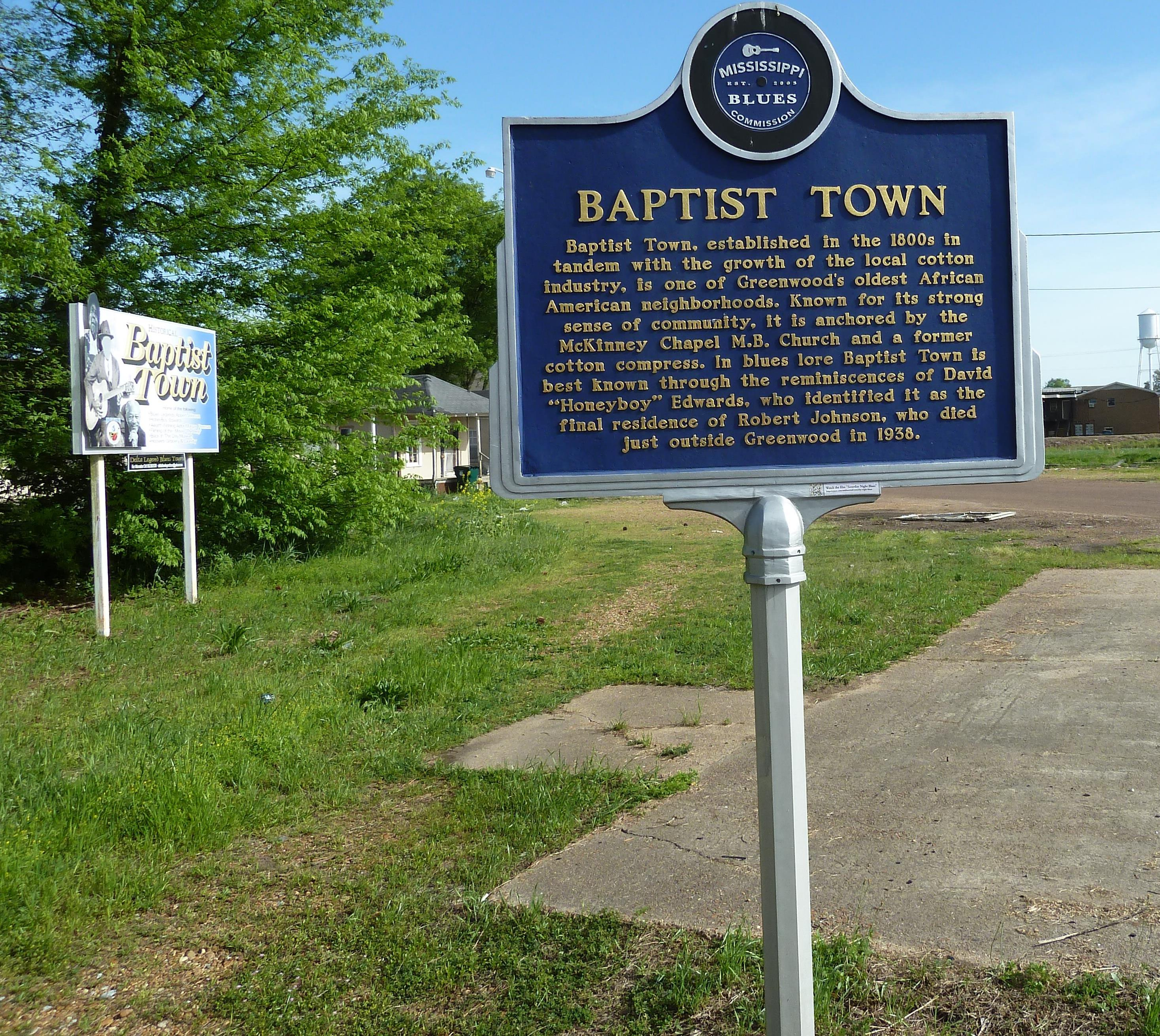Baptist Town Mississippi-Trail Blues Marker